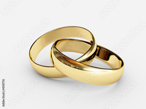 Connected wedding rings