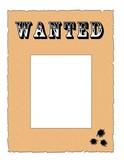 wanted mit einschusslöchern poster