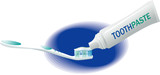 Toothbrush and toothpaste - dental hygiene poster