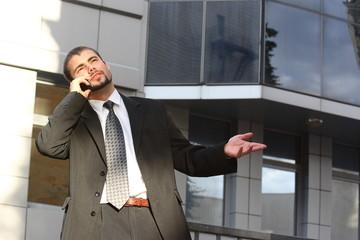 Talking businessman