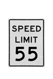 55 speed limit sign isolated poster