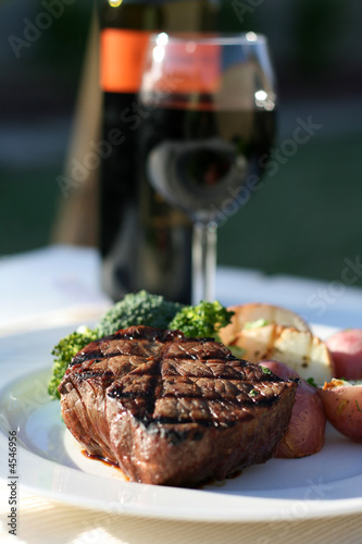 Poster Steak-Abendessen