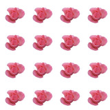 Seamlessly repeating floral pattern - pink rose  poster