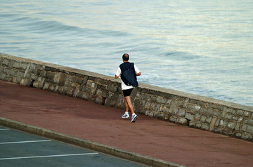 jogging à Hendaye sur la cote Basque