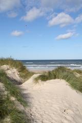 Herrliches Wetter in den Dünen am Strand