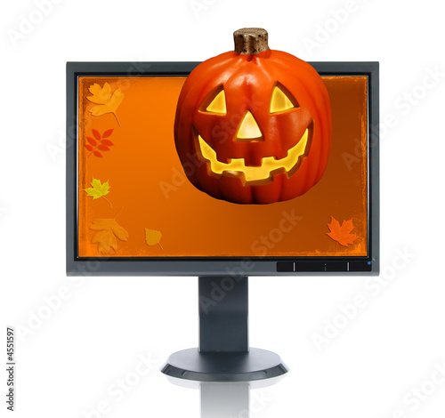 LCD Monitor and Halloween