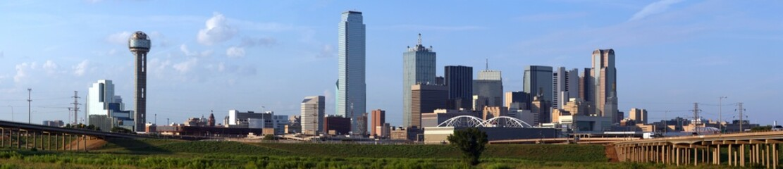 Panoramic Dallas Texas Skyline
