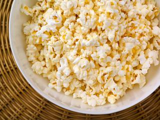 Popcorn, top view
