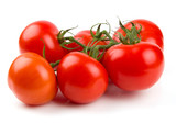 Cluster of tomatoes isolated on white poster