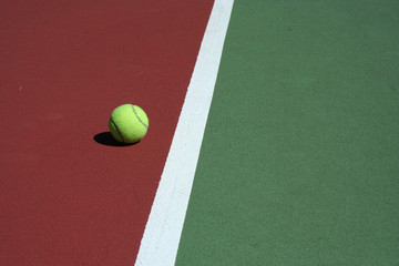 Tennis Ball out of bounds