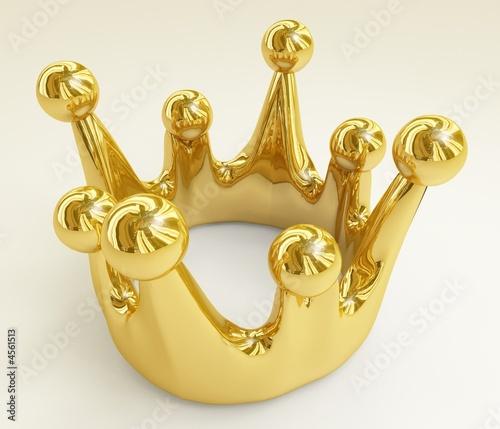 krone in gold