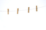 four clothes peg attach to rope poster