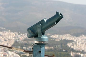 binoculars on lycabetus