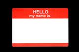Name Badge poster