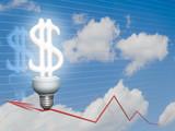 Economic Dollar bulb poster