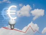Economic Euro bulb poster
