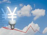 Economic Yen bulb poster