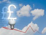 Economic Pound Sterling bulb poster
