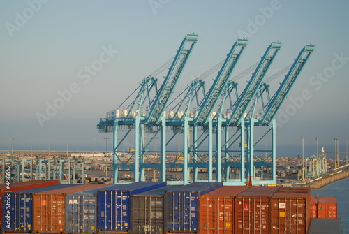 View of Container Dock from Ship, Port of Long Beach - 4566521