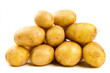Pile of potatoes on white background isolated