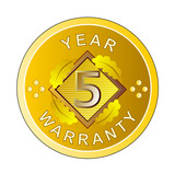 Five year warranty poster