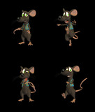 Cartoon Mouse - pack 2 b poster