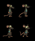 Cartoon Mouse - pack 3 poster