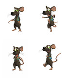 Cartoon Mouse- pack 2 poster