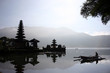 Reflections on the Bratan Lake, the Pura Ulu Danau temple