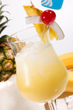 Most popular cocktails series - Pina Colada poster