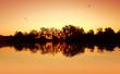 River Sunset Ripples