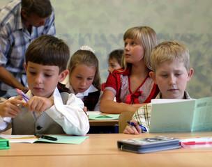 Pupils at classroom