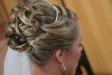 bride hairstyle hair up do curl poster