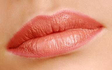 Women beauty lips close-up