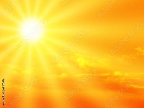 Leinwanddruck Bild sunbeam