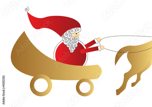 Father Christmas with Sleigh