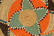 Quadro Colorful hand woven African basket