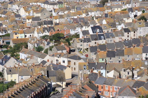 Large number of terrace houses in England