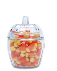 candy corn glass jar