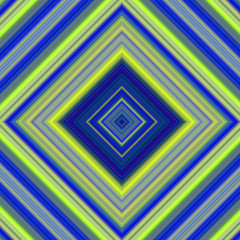 Colorful blue and yellow squares digital image.
