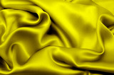 Yellow sik textile background poster