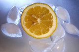 lemon with ice