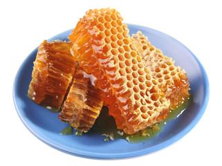 Honey on plate