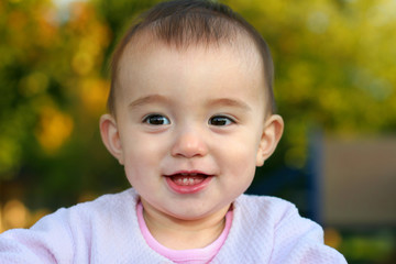 Cute baby girl smilling