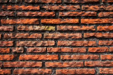 Old red and grey brick wall, texture and background