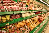 Fototapety vegetables in the supermarket