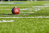 Football on Yardage Line
