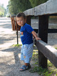 little boy outside