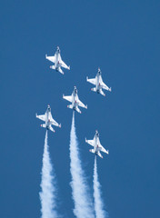 US Thunderbird jets flying in formation