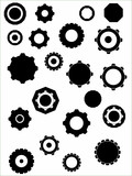 vectors cogs and wheels poster